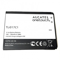 N38.7 Bateria TLi017C1 para Alcatel Pixi 3 4.5 5017E / Vodafone Smart Speed 6 / ORANGE DIVE 50 de 1780mAh