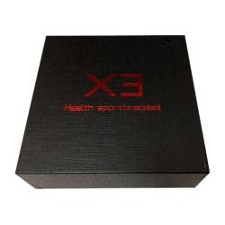 X3 Caja Grande Negra con Letra Roja Health Sportbracelet Smart Pulsera