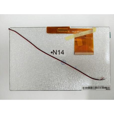 N14 Pantalla Completa para Tablet Generico de 7 Pulgadas 60PIN FPC3-WS70040AV0 / 7BP60T-W RXD / BF1186B60IA SL