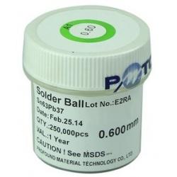 Bote de Bolita para Reballing No.E2RA Sn63Pb37 250000pcs de 0.600mm