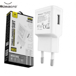 Cable De Datos Con Adaptador De Pared Para Micro USB / V8 2.1A MIMACRO