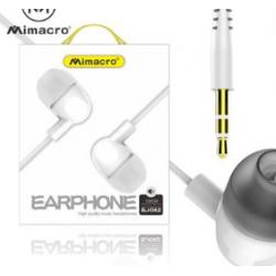Casco / Auricular MP3 Conector Jack Caja Blanca Cuadrada / EJ-042 MIMACRO
