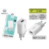 Adaptador De Pared Con Un Puerto USB 2.1A / CDQ 065 MIMACRO
