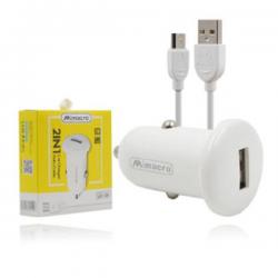 Cargador / Adaptador 2.5A Para Coche Con Cable Micro USB / V8 / CC057 SJX135 MIMACRO