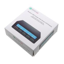 Adaptador / Cargador Con 5 Puertos / Quick Charge 3.0 Con LCD Display