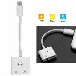 Adaptador Para iPhone Con Boton Home / Carga Lightning / Jack Audio / Modelo JH-000