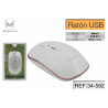 Raton Inalambrico WM001 800/1200/1600DPI Blanco Mimacro
