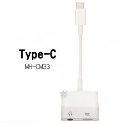 Adaptador Tipo C a Carga Tipo C y Jack Audio 3.50 / Modelo MH-CM33
