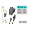 Cable De Datos Con Adaptador De Pared 3.1A Para IOS IPhone 2USB / CDQ-080 SJX-173 MIMACRO