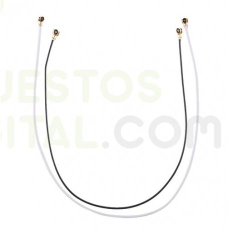 Cable Coaxial de Antena de Sony Xperia T2 Ultra de 105mm de color Plata Plateado