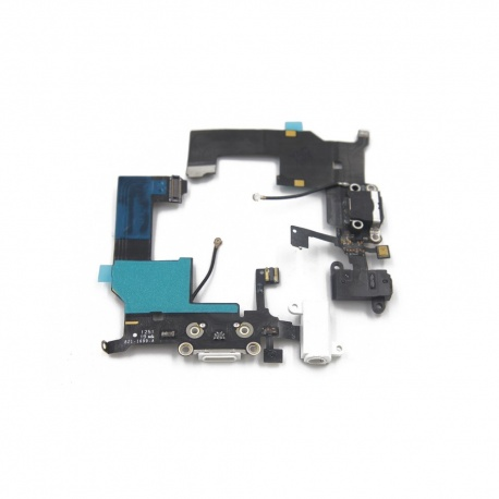 Cable flex con conector de carga, datos y accesorios, conector jack de 3,5 negro, micrófono y cable RF para iPhone 5G