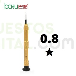 Destornillador Baku 353 de Gran Calidad Punta Estrella 0.8★ / ORO