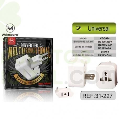 Adaptgador / Transformador Universal de Viaje / CDQ-074 / MIMACRO
