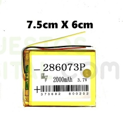 NUM1 Bateria 286073P Generica Para Tablet de 2000mAh-3.7V / 7.5cm x 6cm