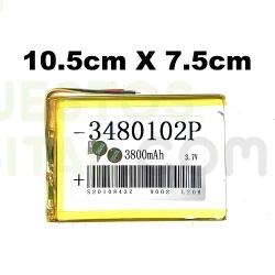 NUM2 Bateria 3480102P Generica Para Tablet De 3800mAh-3.7V / 10.5cm X 7.5cm
