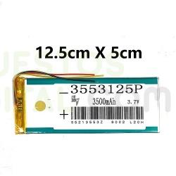 NUM4 Bateria 3553125P Generica Para Tablet De 3500mAh-3.7V / 12.5cm X 5cm