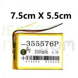 NUM5 Bateria 355576P Generica Para Tablet De 2500mAh-3.7V / 7.5cm X 5.5cm