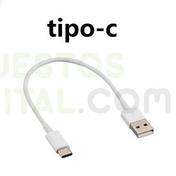 Cable de Carga Tipo C para Power Bank de 25cm