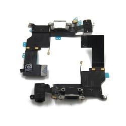 Cable flex con conector de carga, datos y accesorios, conector jack de 3,5 blanco, micrófono y cable coaxial para iPhone 5S