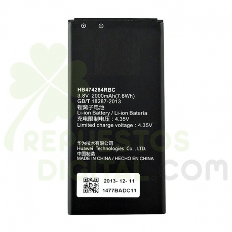 Batería HB474284RBC para Huawei Ascend Y550 y635 g610 y620 电池