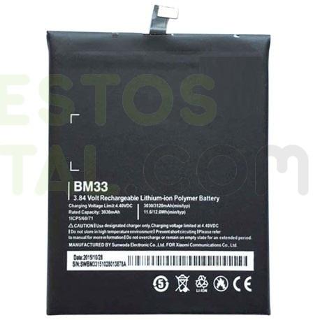 N256 Bateria BM33 para Xiaomi Mi4i, Mi 4i de 3030mAh-3120mAh
