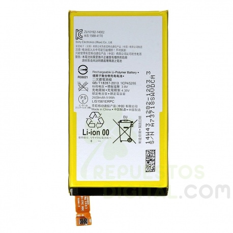 BATERIA LIS1561ERPC SONY XPERIA Z3 COMPACT (D5803, D5833) SONY XPERIA C4 (E5303)电池