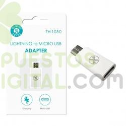 Adaptador de Lightning a Micro USB / ZH-1030 / MAXAM