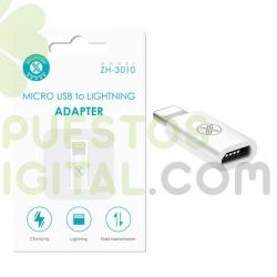 Adaptador de Micro USB a Lightning / ZH-3010 / MAXAM