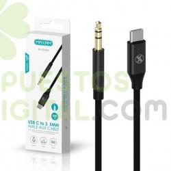 Adaptador / Cable De Conector Tipo C A Jack 3.5mm Audio / ZH-5020M / MAXAM