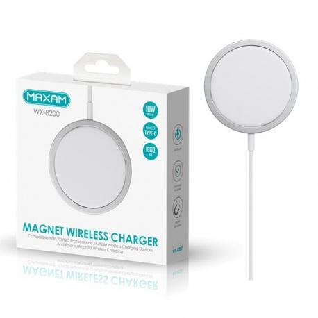 Cargador Magnetico Cable Salida Tipo C / 10W MAX de 1 metro / WX-8200 / MAXAM