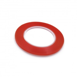 cinta doble caras 0.5cm rojo