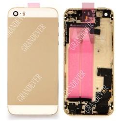 iPhone 5S TAPA TRASERA CON FLEX BLAnCO /NEGRO /oro
