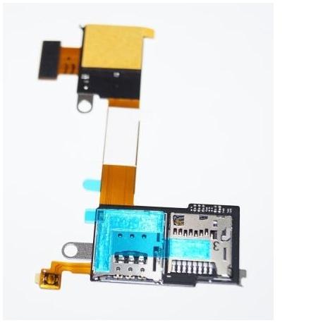 Flex Lector SIM+SD Para SONY M2 AQUA / M2 / D2403 / D2406