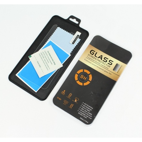 N246 Huawei P Smart Plus Protector / Templado Cristal Full Gel De Pantalla / Marco Negro