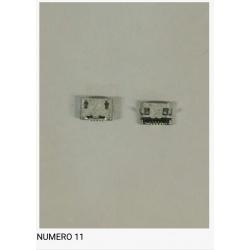 Num11 Conector carga USB universal
