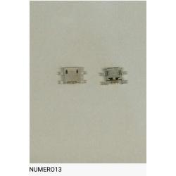 Num12 Conector carga USB universal