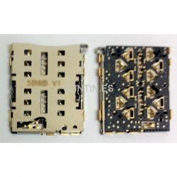 n95 Conector / lector de tarjeta SIM (Dual) para BQ Aquaris X5