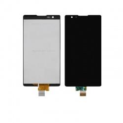 Pantalla completa (LCD/display + digitalizador/táctil) negra con carcasa frontal y marco para LG X Power, K220