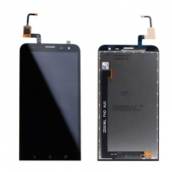 Pantalla completa (LCD/display + digitalizador/táctil) negra para Asus Zenfone 2 Laser, ZE601KL