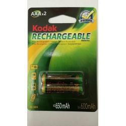 Bateria Recargable AAA 650MAH B/2 Kodak K3AHR