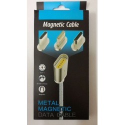 cable magnetico con puerto Lightning , Tipo-C y microUSB 2.0