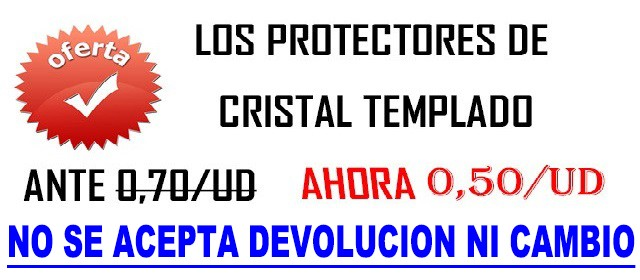 oferta de protector cristal templado